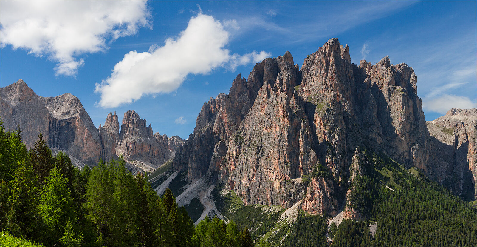 The Dolomites, in northern Italy - The Rosengarten.