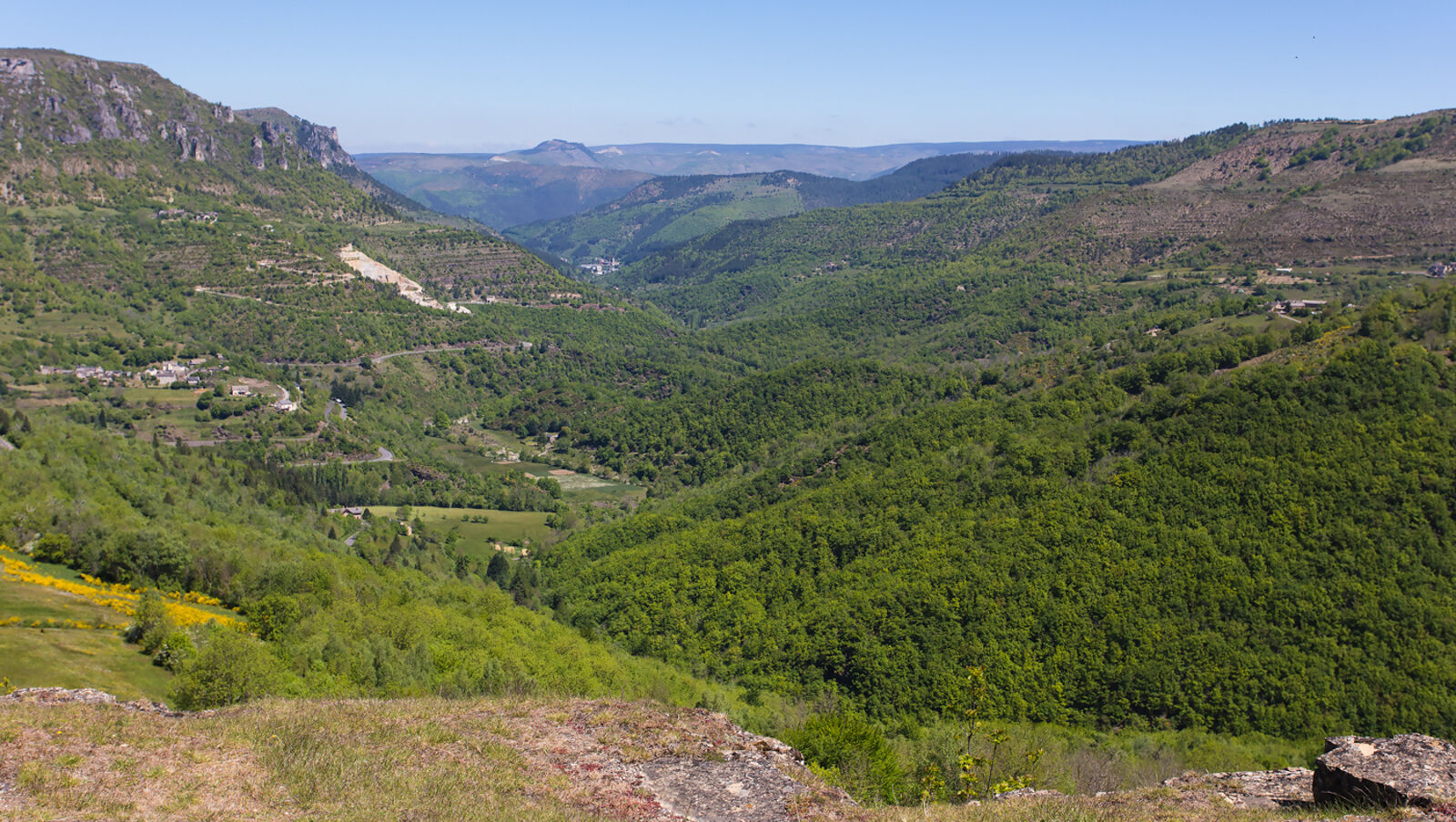The Cevennes, a region of upland limestone country side.