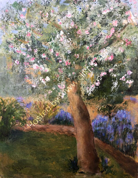 Apple Blossom and Bluebells