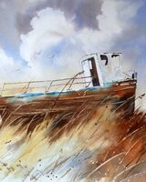 Beached Fishing Boat