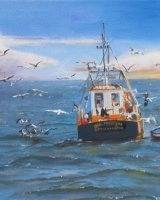 Gulls and Fishing Boat