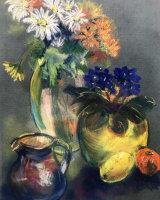 Chrysanthemums & Violets