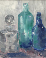 Bottles and Decanter