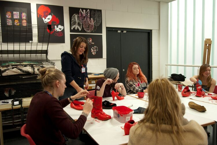 Workshop at Nelson and Colne College