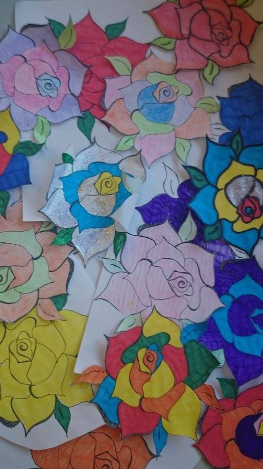 Women made their own project with paper flowers and sent them to David Cameron asking him to  change policy and protect women from violence and exploitation