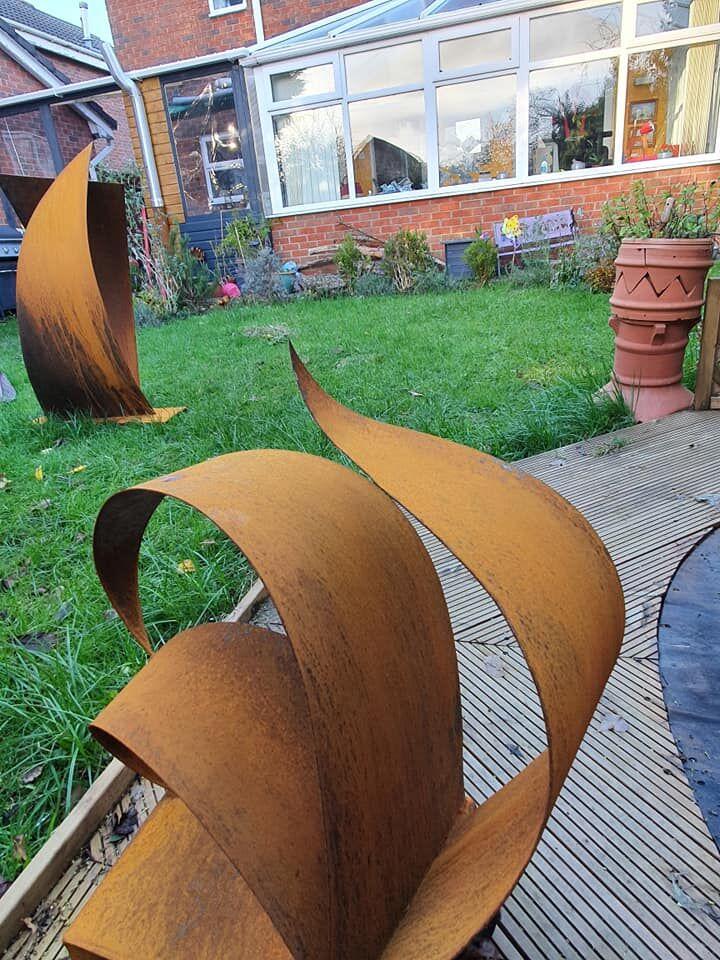 view of 2 sculptures