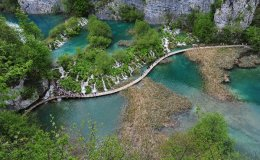 Plitvice lakes, Croatia. May 2017