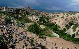 Pigeon valley before the thunder, Uchisar, Cappadocia