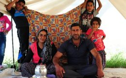 Turkish Roma familie, en route to Malatya