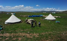 Turkish sheppards trekking from one place to another