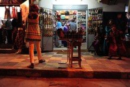 Ramadan night shopping, Assilah, Morocco