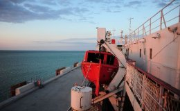 On board ferry Mercury I from Alat (Az) to Aktau (Kz)