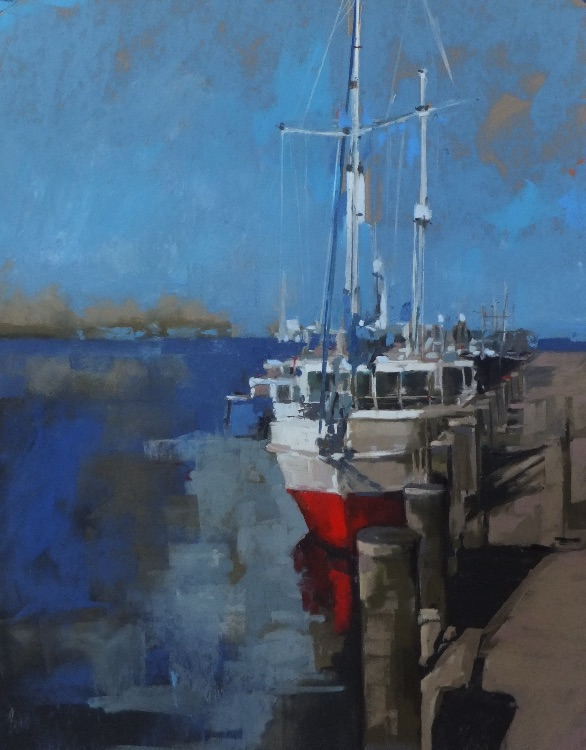 Red Hull Reflected - SOLD