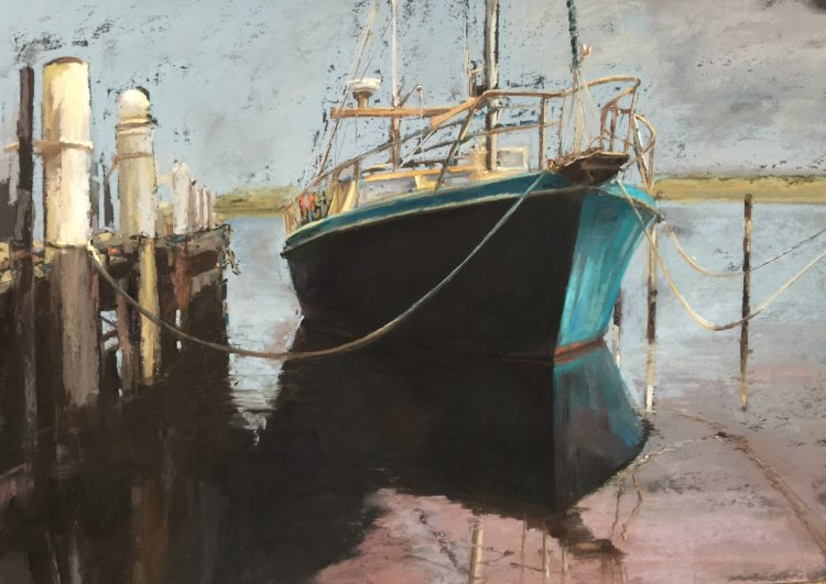 Moored - Strahan. SOLD