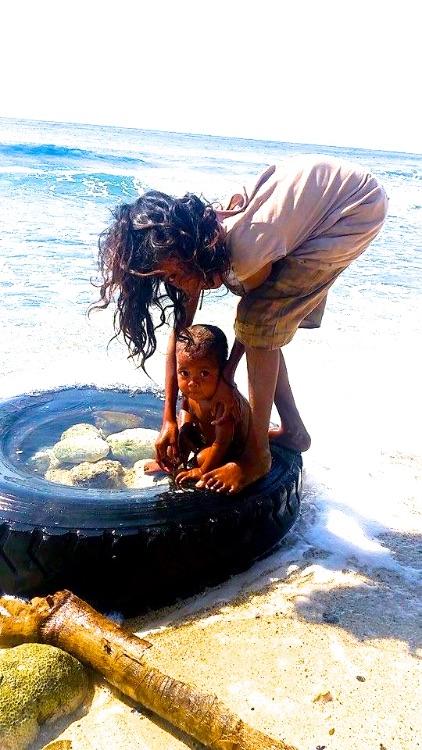 Bath Time - East Timor