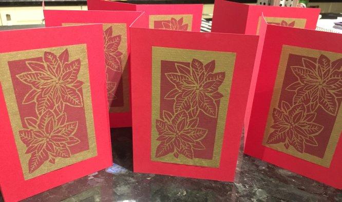 Poinsettia Christmas card for 2018