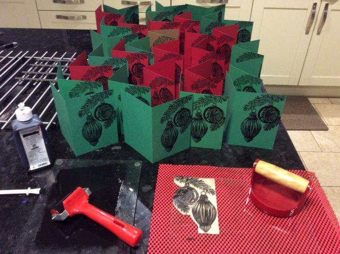 Printing the 2017 Christmas cards