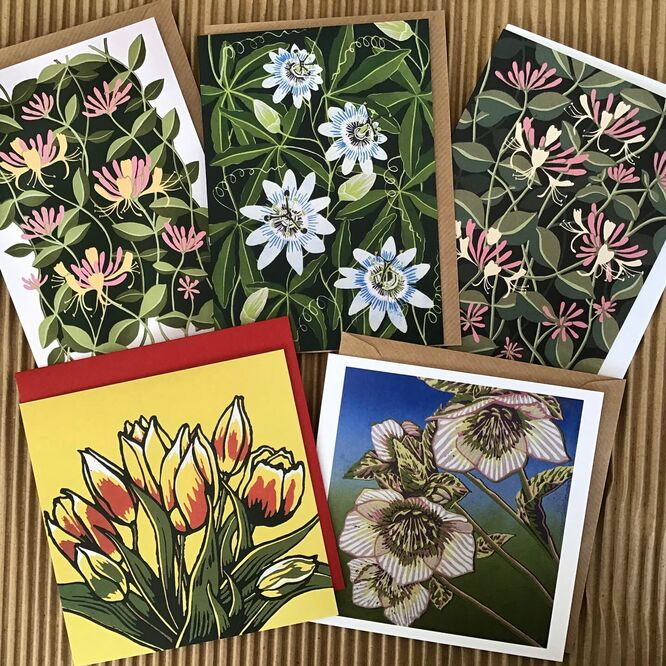 Garden Flowers Greetings cards