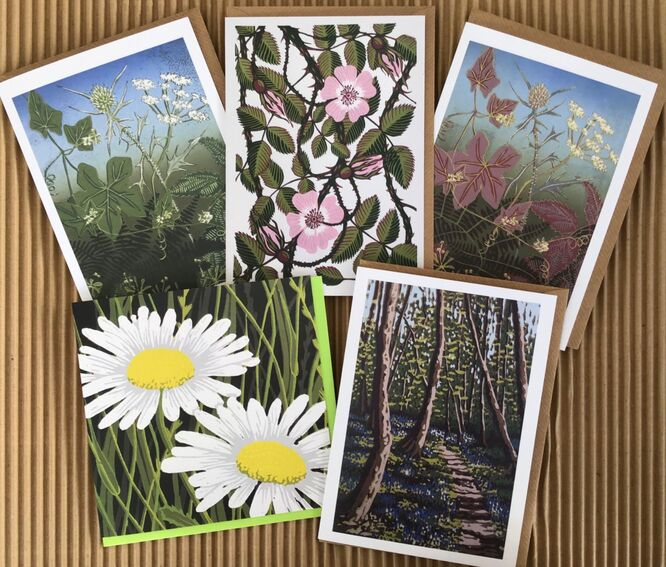 Wild flowers greetings cards pack