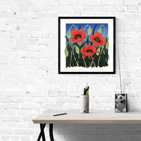 poppies room blue