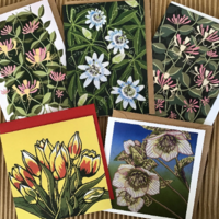"Pack of 5 cards ""Garden flowers"""