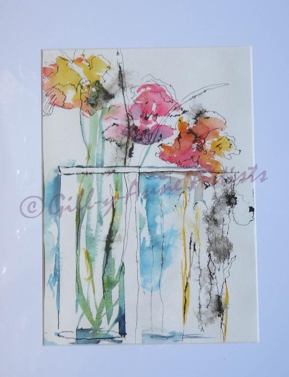 Three Flowers Blooming