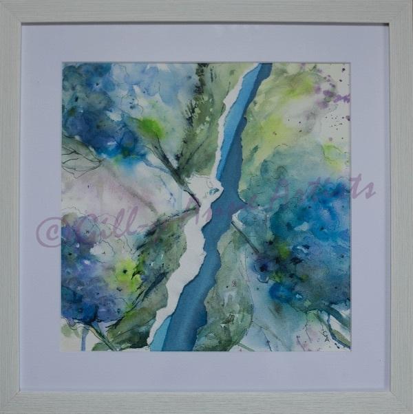 Hydrangea Torn Apart - Cobalt Blue