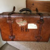 1940s LEATHER SUITCASE SOLD
