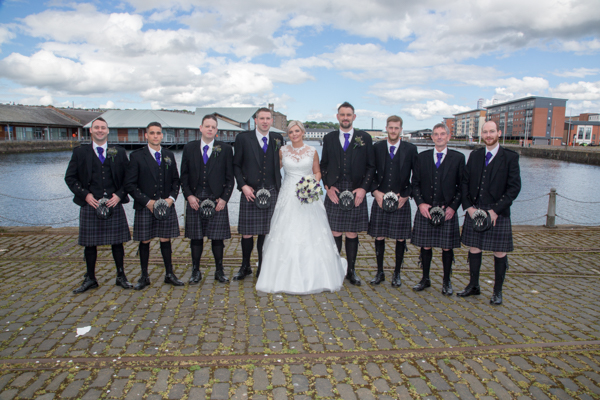 Nikki & Mark's wedding at the Apex Hotel Dundee.