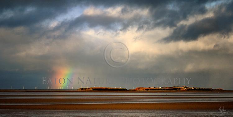 Rainbow over Hilbre