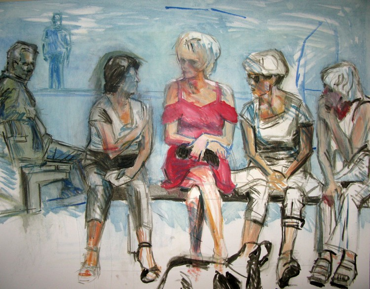 women chatting - unfinished