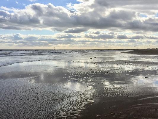 Beach reflections  Bridlington 2017
