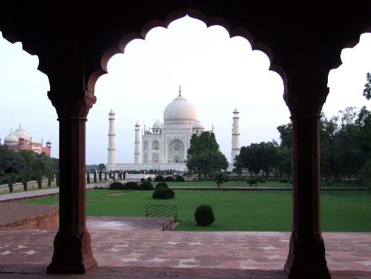 The Taj at dawn