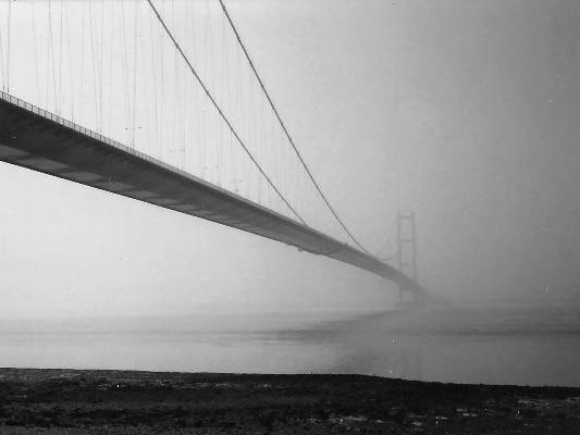 Foggy day at the Humber Bridge