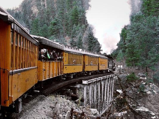 Silverton to Durango railway