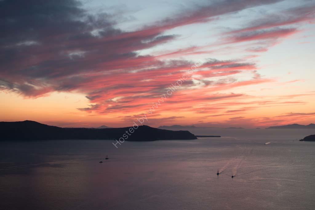 Sunset at Santorini. Greece