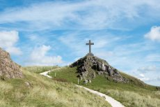 Cross on Llanddwyn Island Anglesey