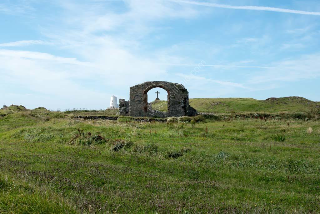 Church ruin Llanddwyn Island Anglesey