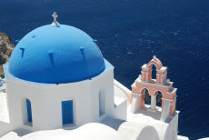 Blue dome in Oia