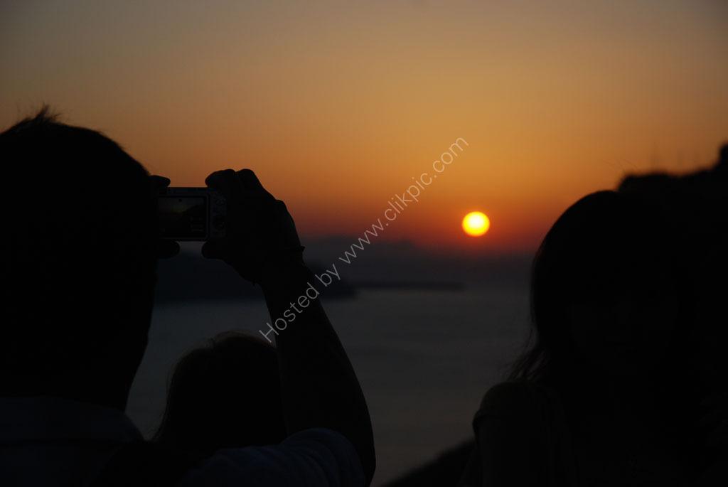 The sunset Santorini