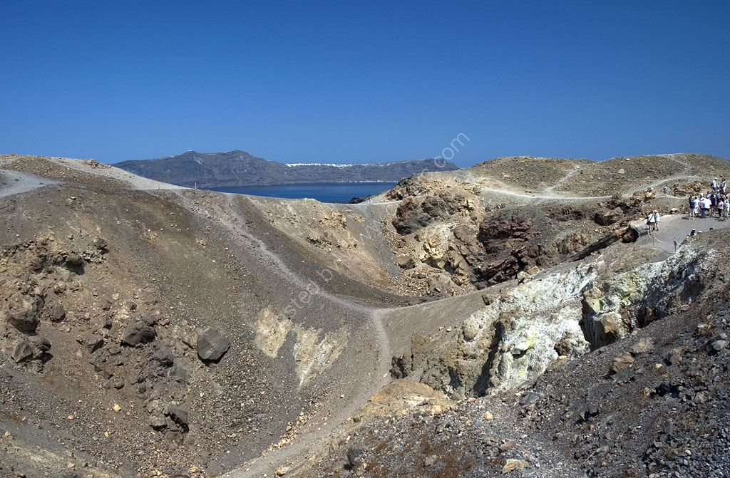 Volcanic Crater Santorini