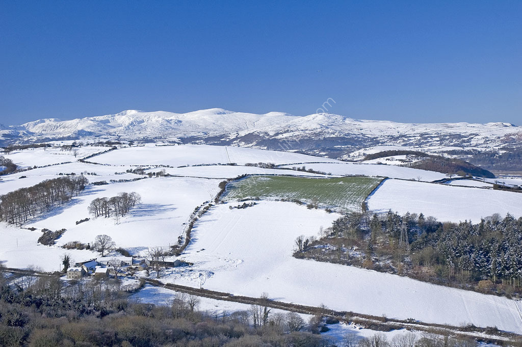 Snow fields from Colwyn Heights