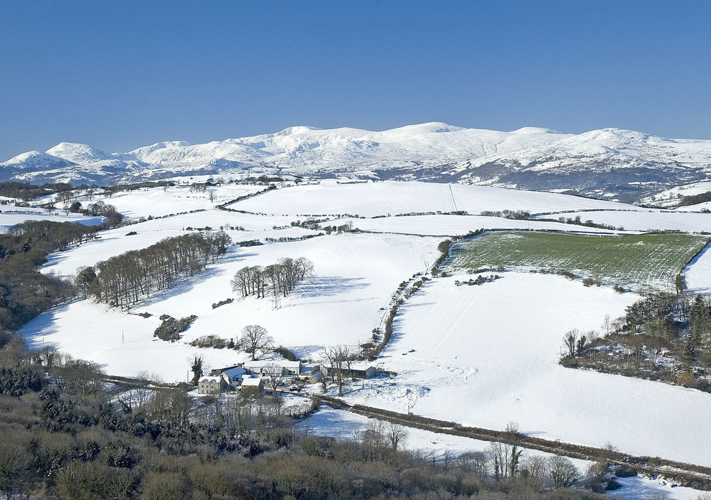 Snow scene from above Colwyn Bay