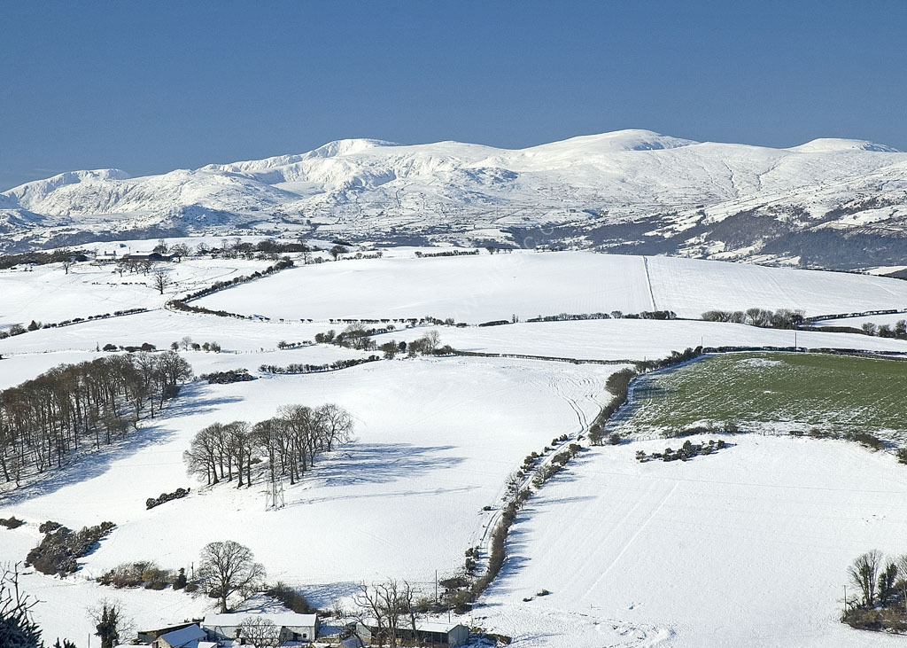 Snow scene viewed from Colwyn heights