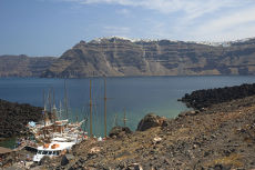 Santorini from Nea Kameni