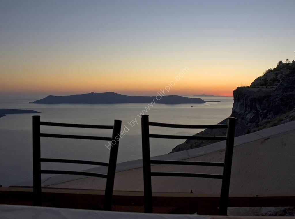 After sunset. Santorini