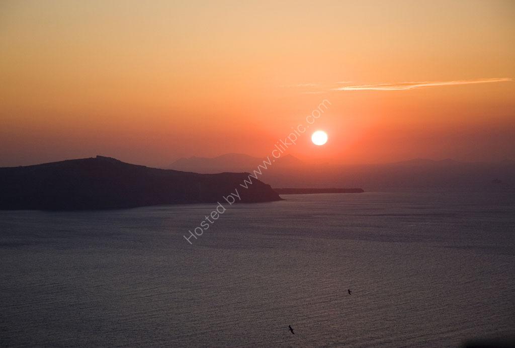 Setting Sun Santorini