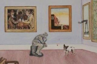 Andy Warhol's  Dog (detail)