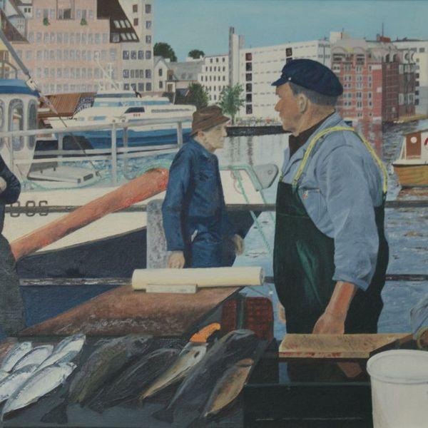 Fishermen in Bergen Norway