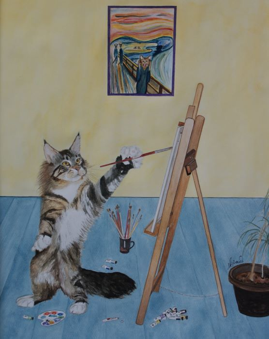 Painter cat